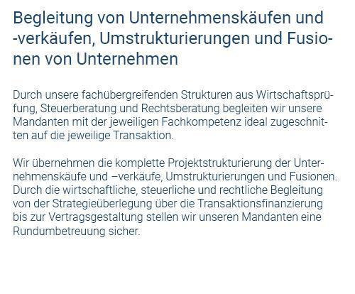 Beratung Unternehmenskäufe für  Herrenberg