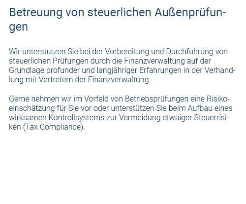 Betreuung Außenprüfung in  Herrenberg