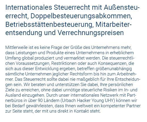 Internationales Steuerrecht in  Ehningen