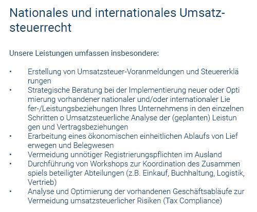 Nationales Umsatzrecht in  Mössingen