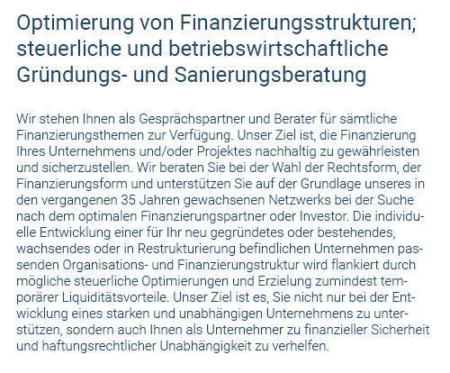 Optimierung Finanzstrukturen