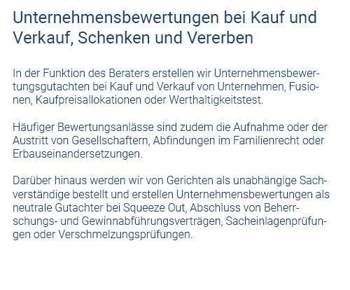 Unternehmensbewertung in  Bad Wildbad
