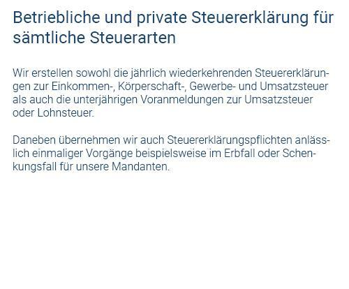 private Steuererklärung