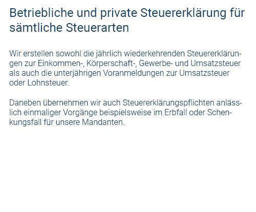 private Steuererklärung aus 71032 Böblingen